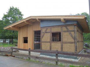 Der Historische Bauernhof nimmt Form an<br /> Mai 2018