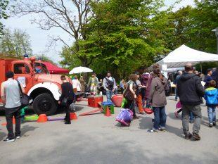 Das Spielmobil des DKSB war mit verschiedenen Aktionen dabei
