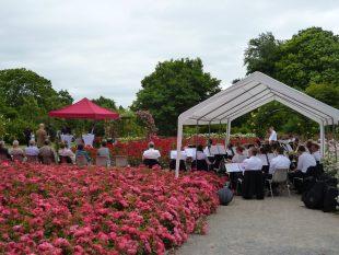 Das Blasorchester Essen-Werden sorgte für die musikalische Begleitung des Festaktes